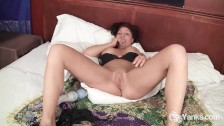 Nasty MILF Olivia Plays With A Hitachi