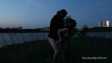 Last night's #4 - MILF giefs BJ and gets fucked outdoors as night falls
