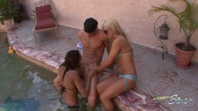 Johnny Sins Three Girl Bikini Pool Party