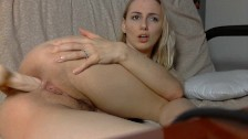 Playing with anal toy - Jugando con juguete anal
