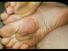 Lucy's and Jake Footjob 3 (Dirty Feet)