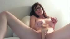 Busty Nerd Webcam Masturbation