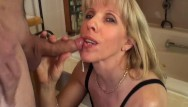 Blow cum suck Guy cums twice during a blow-job