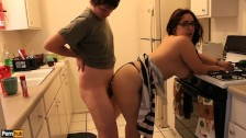 Quickie w/ Daisy Dabs 2:Latina teen gets ass pounded in kitchen