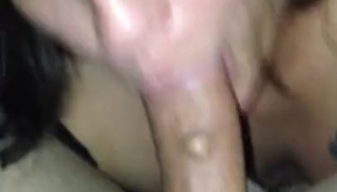 My cocksucking slut can't get enough of you guys watching her suck my cock.