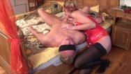 Underwear in vagina Domina kate truu squirting on her slave face. bdsm session part 1