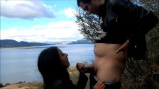 Quick outdoor blowjob w/ cum swallowed - DiabloEntertainment