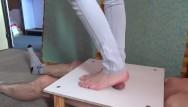 Hot sexy feet thumbs Sexy foot crushing manhood