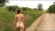 Big sky drag strip Me walking naked down the road- andrea sky