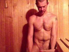Older Younger Sauna Cock Sucking (Daddy and Son)