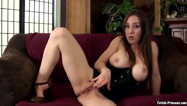 Princess Kristi Smokes in Heels and Rubs Wet Pussy Smoking Fetish