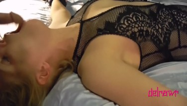 Slut Wife Gets Tied Down And Face Fucked.