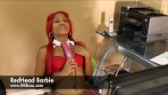 Barbie griffin pink bikini - Redhead barbie home from school fucking herself with a fat pink dick
