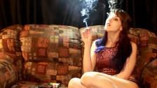 Teen smokes 420 and cigarette