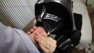 Darth vader helmet latex mask - Darth vader gets ass fucked a sprayed with cum