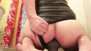 Oiled down gay ass tgp - Chubby cutie wears a onepiece and bounces on his dildo with oil