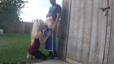 back yard blowjob - OurDirtyLilSecret