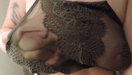 Lacey turner strips Hd milkymama strips and teases tits through lacey bra