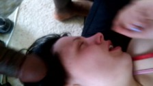Lost and found: Ex gf tries to deepthroat bbc for first time