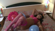 Girls fuck party Anal sex party in the hotel room with horny spanish girl