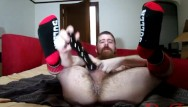 Gay white socks Thedudewhosadude shoves more toys up his ass and wears socks
