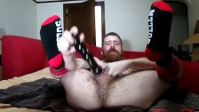 Thedudewhosadude shoves more toys up his ass and wears socks