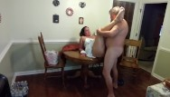 Girls in sundresses getting fucked - Sexy milf in a sundress gets fucked and creampied on the dining table...