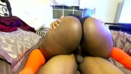 Girl wearing condom Cute black girl rides till you cum -wearing glasses and highsocks
