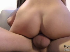 She wants to be fucked on couch!Big cock extrasmall tight cunt!