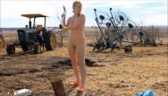 Andrea savage nude Naked chopping wood- andrea sky