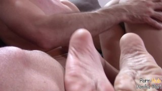 After first cum swallow she begs for let him cum inside her pussy!!CowGirl!
