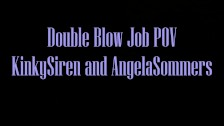 Double blowjob fantasy with Angela Sommers