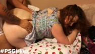 Butt fat fuck Danielle gets fucked doggystyle and takes a huge cum shot on her fat ass