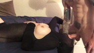 Fetish faces - Face fucked cumshot on pantyhose