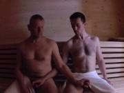 Mature Daddy Fucks Boy in Sauna - Older Younger Bareback