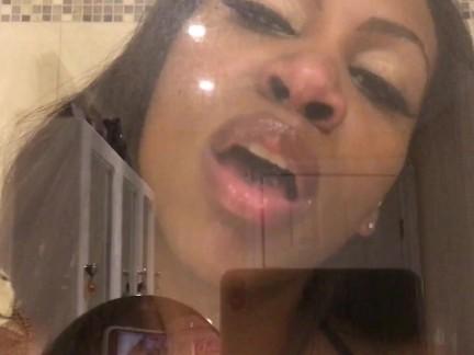 ASMR - Glass Kissing - Ass Worship - Wet Mouth Sounds - EbonyLovers