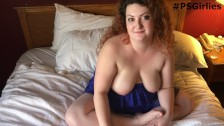 Danielle behind the scenes! Real BBW interview and masturbation
