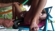 Massive squirt dildo Amateur wife-outdoor masturbation with massive dildo squirting orgasms