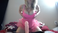 Adult tutu dresses Young blonde in pink tutu does footjob/joi and masturbates in panties