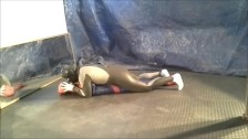 wetsuit zentai snake against spiderman dummy