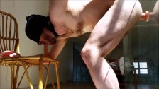 Both holes filled for straight hairy daddy - ass fuck and blowjob solo guy