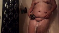 Adriana transsexual - Fingering in the shower