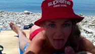 Russian nudist photo collection Public blowjob outdoor on a nudist beach. russian slut nudist girl. supreme
