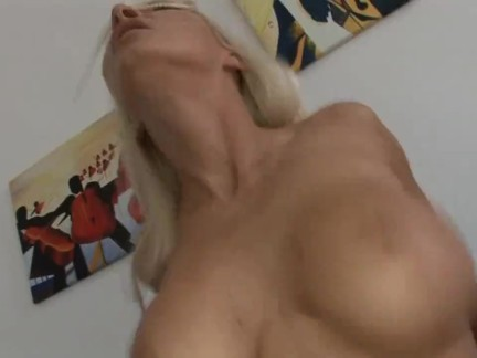 Sexy blonde with big tits gets fucked hard by a big black cock