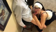 Sexy latex nuns - Naughty nun sucks the devil out of sinner church boy