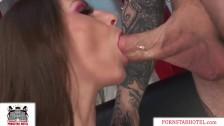 Tiny Teen Pornstar Rachel Roxxx w Huge Tits Has Rough Sex & Swallows Cum