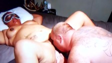 Masked Black BBW Teen Gets Her Pussy Licked Sucked And Fuck By Big Dildo