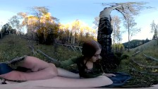 360vr Fucking Myself With Bad Dragon Dildo Under Yellow Aspens. freckledRED
