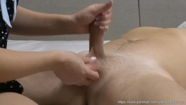 Skilled handjob with ball massage and happy ending by NataSweet