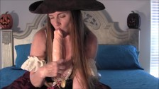 Sexy Pirate Wench Nikki Fucking Herself With A Dildo